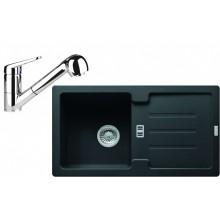 Franke SET G82 granitový dřez STG 614-78 onyx +baterie FC 9547 chrom 114.0365.745