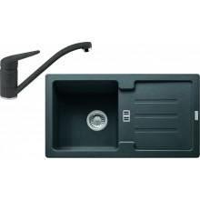 Franke SET G89 granitový dřez STG 614-78 grafit + baterie FC 9541 grafit 114.0365.958