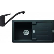 Franke SET G89 granitový dřez STG 614-78 onyx + baterie FC 9541 onyx 114.0366.002