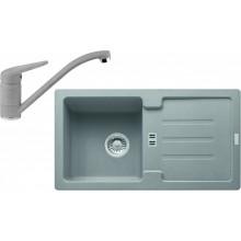 Franke SET G89 granitový dřez STG 614-78 šedý kámen + baterie FC 9541 šedý kámen 114.0366.006