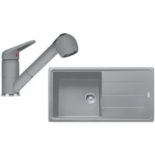 Franke SET G138 granitový dřez BFG 611 šedý kámen + baterie FC 9547.084 šedý kámen