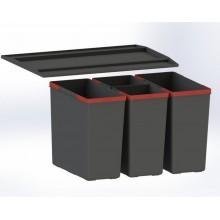 Franke Easysort 600-2-2 (2x14,5 l, 2x7,5 l), odpadkový koš 121.0494.193