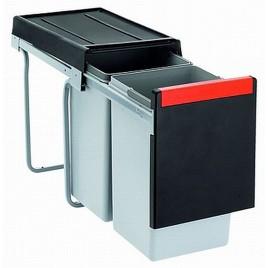 Franke sorter Cube 30 - 1x20 l,1x10 l 253x467x423 - ruční výsuv, 134.0039.554