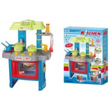 Dětská kuchyňka G21 s příslušenstvím modrá 690403