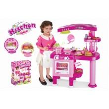 Dětská kuchyňka G21 velká s příslušenstvím růžová 690665