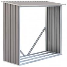 G21 WOH 136 Přístřešek na dřevo 182 x 75 cm, šedý 63900493