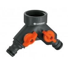 """GARDENA 2-cestný ventil 33,3 mm (G 1"""") pro 3/4"""" kohouty, 0940-20"""