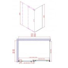 GELCO Dragon sprchová boční stěna 100 L/P, sklo čiré GD7210