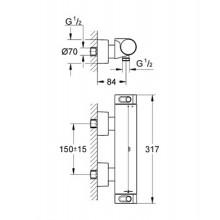 GROHE Grohtherm 2000 NEW termostatická sprchová baterie, DN 15, chrom 34169001
