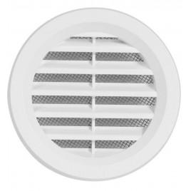HACO větrací mřížka kruhová se síťovinou VM 75 B plast, bílá 0411