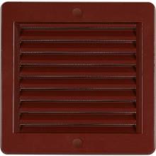 HACO větrací mřížka s rámečkem a síťovinou VM 150x150 H plast, hnědá 0212