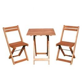 HAPPY GREEN Balkonový dřevěný set Acacia 3-dílný 37BSRETXFCH