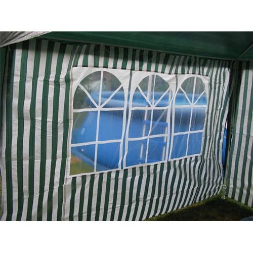 HAPPY GREEN Bočnice zahradního stanu s oknem-pruhy 2,95 x 1,95m, 50ZJ10292W