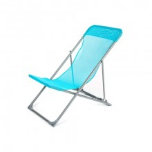 HAPPY GREEN Křesílko plážové skládací CARIBIC 56,5 x 91 x 96 cm, světle modré 50323005LB