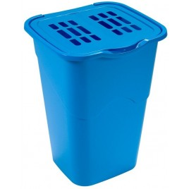 HEIDRUN Koš na špinavé prádlo modrý 53,5 x 40 x 36,5 cm 50 l 1307