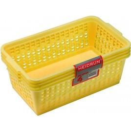 HEIDRUN Sada košíčků 4ks, 8 x 25 x 14,5 cm, mix barev 41092