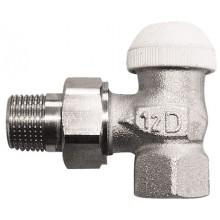 """HERZ TS-90- Termostatický ventil rohový 1"""", M 28x1,5 bílá krytka 1772493"""