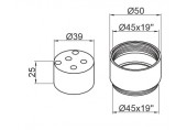 HERZ prodloužení 25 mm pro podomítkové baterie Simpaty, Harmony a Prestige UH12702