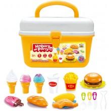 Hrací set G21 Hamburger a zmrzlina v kufříku 60026326