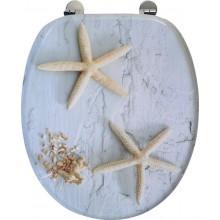 AQUALINE FUNNY WC sedátko s potiskem mořská hvězda, HY1185