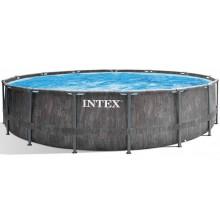 INTEX Bazénový set Prism Frame Greywood Premium 4,57m x 1,22m 26742NP