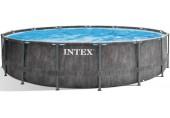 INTEX Bazénový set Prism Frame Greywood Premium 5,49m x 1,22m 26744NP