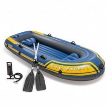 INTEX Challenger 3 Set Nafukovací člun 295 x 137 x 43 cm, modrá 68370NP