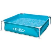 INTEX Bazén Frame Mini - modrý 122 x 122 x ,30 cm 57173NP