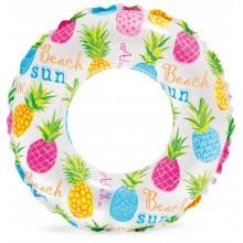 INTEX Lively Print nafukovací kruh 61cm, barevný ananas 59241NP