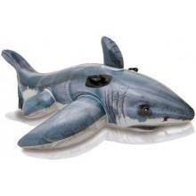 INTEX Nafukovací bílý žralok, 57525NP