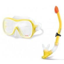 INTEX Potapěčský set: maska a šnorchl, žlutý 55647