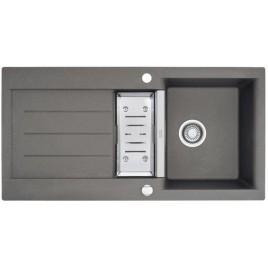 Franke Java JAG 651, 1000x510 mm, granitový dřez šedý kámen + miska 114.0120.162