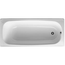 Jika RIGA vana ocelová 140x70cm bílá, hladký povrch H2340400000001