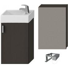 Jika PETIT Sada s umývátkem 40 cm, zrcadlová skříňka, osvětlení, šedá H4535121753011