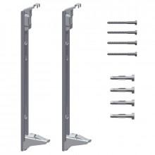 Kermi Sada stěnových konzolí pro montáž deskových otopných těles Profil typ 12, 22 a 33, výška 600 mm ZB02970005