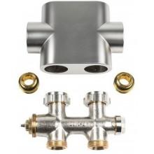 Kermi ventilový blok, přímý, clona imitace nerezu ZV00400003