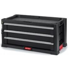KETER box na nářadí 3 zásuvky 56x29x26cm černý 17199302