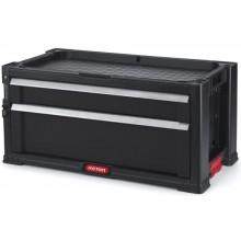 KETER Box na nářadí 2 zásuvky 56x29x26cm černý 17199303