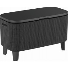 KETER BEVY BAR Multifunkční stolek ratan, 83,5 x 40 x 50-74 cm, grafit 17209510