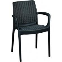 KETER BALI MONO zahradní židle, 55 x 60 x 83 cm, grafit 17190206