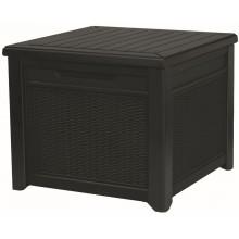 KETER CUBE RATTAN 208L zahradní úložní box/stůl 72,2 x 71 x 59 cm, antracit 17199597