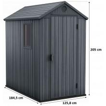 KETER DARWIN 4 x 6 zahradní domek, 125,8 x 184,5 x 205 cm, šedý 17209417