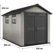 KETER OAKLAND 7511 zahradní domek, 229 x 350 x 242 cm, šedá/antracit 17201421