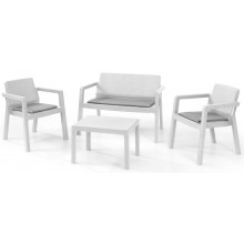 KETER EMILY PATIO Set zahradní se sedáky, bílá/šedá 17209816