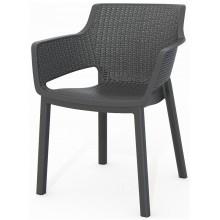 KETER EVA zahradní židle, 57,7 x 62,5 x 79 cm, grafit 17210109
