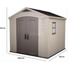KETER FACTOR 8 x 8 zahradní domek, 256,5 x 255 x 243 cm 17197916