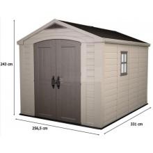 KETER FACTOR 8 x 11 zahradní domek, 256,5 x 331,5 x 243 cm 17197917