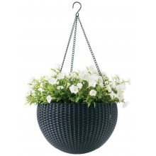 KETER HANGING SPHERE Planter květináč závěsný 35 x 35cm, ratan, antracit 17199246