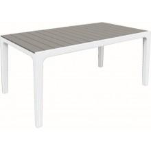 KETER HARMONY stůl 160 x 90 x 74cm, bílá/šedá 17201231