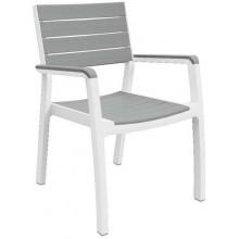 KETER HARMONY zahradní židle, 58 x 58 x 86 cm, bílá/šedá 17201284